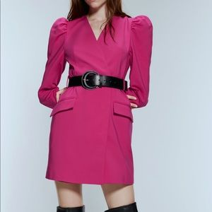 ZARA pink blazer dress